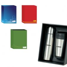 On The Go Stainless Steel Flask and Tumbler Set