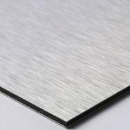 Aluminum coposite/Dibond Sheet - 3mm 1/8 - 48 x 96 - Brushed Silver/Silver