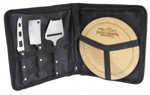 Plateau à fromages avec sac de transport - 3 couteaux #RushExpress72hrs