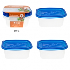 PROFESSIONAL - CONTENANT POUR ALIMENTS EN PLASTIQUE - 280 ml - EMBALLAGE DE 3