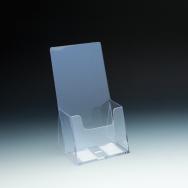 Support à brochure 3 plis - extra capacité - 1 emp. - 4,5 L x 4,5625 P - Acrylique claire