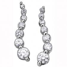 Diamond Drop Earrings in 14K White Gold (0.50 CT. T.W.)