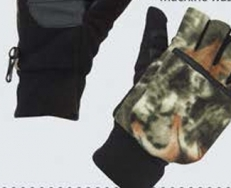 Men's Lined Camo Flip Mitts