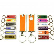 Mini Flash Light with Super Bright LED & Swivel Key Chain (Orange)