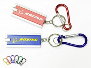 Rectangular Flashlight Key Chain with 2 Carabiner