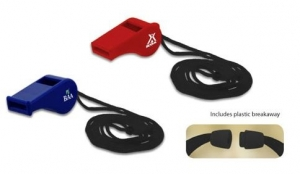Plastic Whistle w/ 18 Lanyard (50 Days Direct Import)