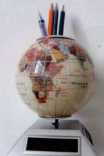 Rotating Solar Globe w/ Pen Holder
