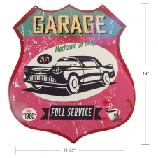 TIMBER - TIN SIGN GARAGE FULL SERVICE 1960