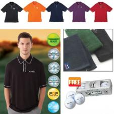 PGA Tour - Links Gift Set ( Golf Shirt/Golf Ball/Golf Towel)