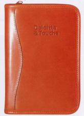 Zippered Organizer w/ Weekly Planner/ Address Book & Notepad(Stock Leather)