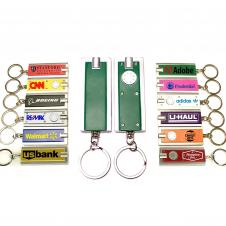 Mini Flash Light with Super Bright LED & Swivel Key Chain (Green)