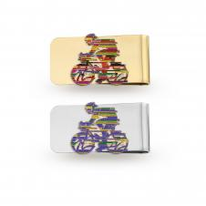 Money Clip with Imported Soft Enamel Lapel Pin (Up to 1 1/4)