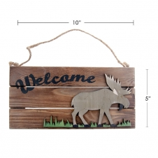 TIMBER - WELCOME SIGN, PICTURE OF A MOOSE