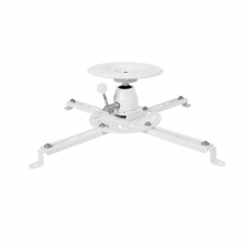 Support Audio/Video - Support pour projecteur - Au plafond - Ajustable 360 deg. - Blanc