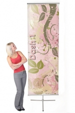 Dash 1 (Mini) DSH-M-1 - 31.5 x 78.5 - Telescopic Non-retractable Banner Stand - w. Bag