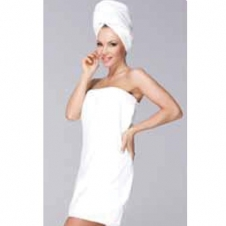 100 percent Cotton Ladies Spa Wrap Waffle Weave