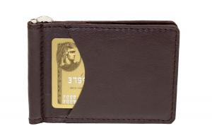 Money Clip Wallet w/ 2 Outside Pockets - Dark Brown Expresso