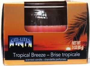 CITI-LITES 3OZ BOXED GLOBE JAR TROPICAL BREEZE
