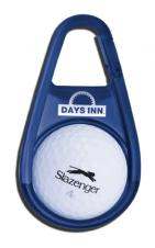 Carabiner Golf Ball Holder With Ball Marking Guide (3 3/4x2 1/8x3/4)