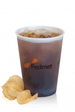 Frosted Plastic Cups - 12oz frosted, soft sided