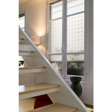 Window Films - Decorative Films - Frosted Films - INT 470 - With transparent square of 20x20 mm