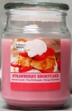 BAKE SHOP 18 OZ CANDLE JAR-STRAWBERRY SHORT CAKE