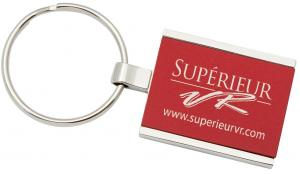 Rectangular colored metal key tag #RushExpress72hrs