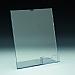 Support d'affiches de comptoir - avec section carte 3,5 L bas droite - 8,5 L x 11 H - Acrylique durable claire