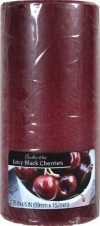 3X6 PILLAR JUICY BLACK CHERRY