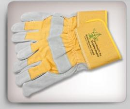 2-Tone Split Cowhide Working Gloves