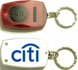 Rectangular LED Flashlight Key Chain with On/ Off Switch