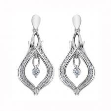 Diamond Drop Earrings in 10K White Gold (0.33 CT. T.W.)