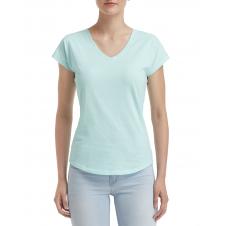 ANVIL - 6750VL - T-Shirt - Triblend Col en V pour femme - 50/25/25 - Sarcelle Glace? - Small