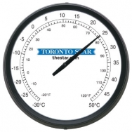 17 Round Wall Thermometer with Full Colour Imprint