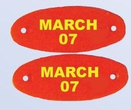 Flex PVC Oval Shoe Tags