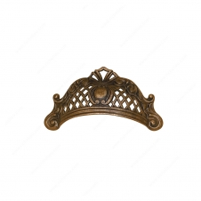Traditional Brass Pull - 1513 - 49 mm / 95 mm - Oxidized Brass