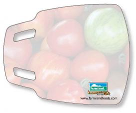Flexible Cutting Board, FDA approved .030 clear plastic, stock scoop shape