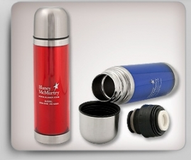 16 Oz. Translucent Thermos w/ Stainless Steel Interior