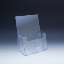 Counter Brochure Holder up to 6 width - extra capacity - 1 pocket - 6,375 W x 4,625 D - Clear
