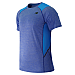 NEW BALANCE - MT61920 - T-Shirt - T-Shirt Technique - 100% Polyester - Bleu E?lectrique - Small