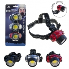 Olympia - Lampe frontale - Ensemble de 3 unités - 220 lumens - Batterie incluses