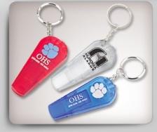 Translucent Key Holder w/ Light & Safety Whistle