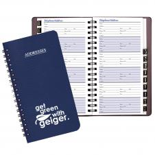 Medium Address Book w / Leatherette Cover