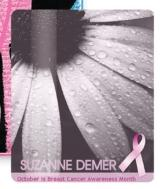 Breast Cancer Awareness 3x5 Gift Card Stock Lanyard Card