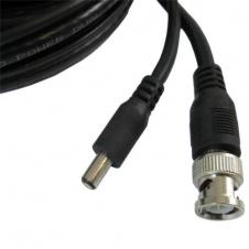 Câble CCTV - Pour caméra de sécurité - BNC & Fil alimentation - RG-59 - Noir - 150 pieds