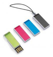 Custom Plastic Mini USB Flash Drive W/ Strap