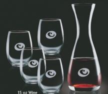 25 Oz. Bishop Carafe with 2 Stanford Wine Glass