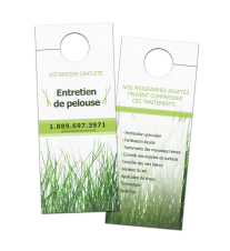Door Hangers - 14pt + UV Coating