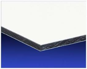 Aluminum coposite/Dibond Sheet - 3mm 1/8 - 48 x 96 - White Matte