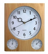 Custom Wooden Weather Station Wall Clock